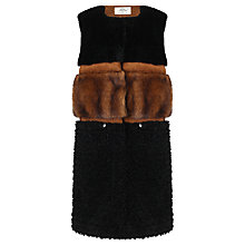 Buy Urbancode Sadi Faux Fur Gilet, Black Online at johnlewis.com