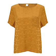 Buy Des Petits Hauts Sidoma Bird Print Top, Ocre Online at johnlewis.com