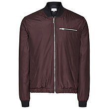 Buy Reiss Bert Technical Bomber Jacket, Burgundy Online at johnlewis.com