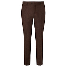 Buy Berwin & Berwin Wool Tailored Suit Trousers, Rust Online at johnlewis.com