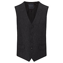 Buy Berwin & Berwin Herringbone Wool Tailored Waistcoat, Charcoal Online at johnlewis.com
