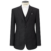 Buy Berwin & Berwin Herringbone Wool Tailored Suit Jacket, Charcoal Online at johnlewis.com