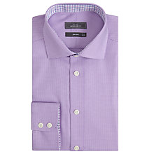 Buy John Lewis Non Iron Puppytooth Regular Fit Shirt, Lilac Online at johnlewis.com