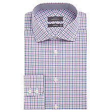Buy John Lewis Non Iron Cotton Regular Fit Check Shirt, Blue/Pink Online at johnlewis.com