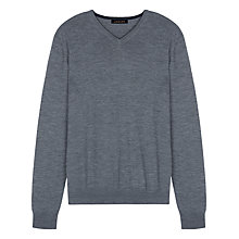 Buy Jaeger Merino Wool V-Neck Jumper Online at johnlewis.com