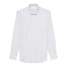Buy Reiss Raury Check Slim Fit Shirt, Light Grey Online at johnlewis.com