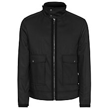 Buy Reiss Battle Funnel Collar Jacket, Black Online at johnlewis.com