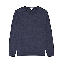 Buy Reiss Rio Long Sleeve Marl Sweatshirt, Indigo Online at johnlewis.com