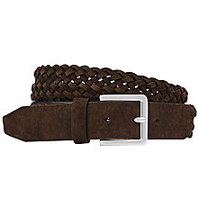 Buy Reiss Bridge Suede Plaited Belt Online at johnlewis.com