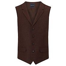 Buy Berwin & Berwin Wool Tailored Waistcoat, Rust Online at johnlewis.com