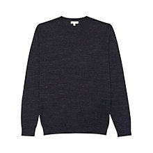 Buy Reiss Parker Melange Cotton Jumper, Indigo Online at johnlewis.com
