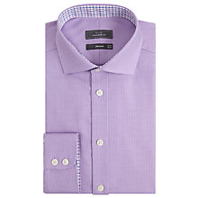 Buy John Lewis Non Iron Puppytooth Tailored Fit Shirt, Lilac Online at johnlewis.com