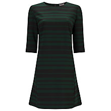 Buy Phase Eight Sabrina Stripe Tunic Dress, Black/Pine Online at johnlewis.com