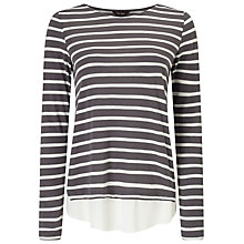 Buy Phase Eight Wilton Stripe Top, Charcoal/Ivory Online at johnlewis.com