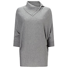 Buy Phase Eight Split Neck Becca Jumper, Grey Marl Online at johnlewis.com
