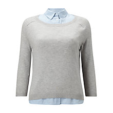 Buy Phase Eight Teresena Shirt Top, Silver Grey Online at johnlewis.com