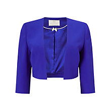 Buy Jacques Vert Sharp Edge Bolero, Bright Blue Online at johnlewis.com