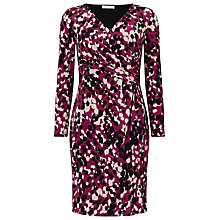 Buy Jacques Vert Petite Jersey Print Dress, Purple Online at johnlewis.com