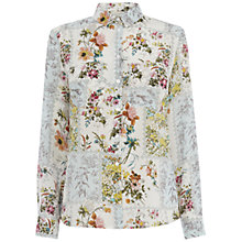 Buy Oasis Patchwork Silk Shirt, Multi Online at johnlewis.com