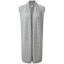 Buy Pure Collection Dawson Longline Side Split Cardigan, Heather Grey Online at johnlewis.com