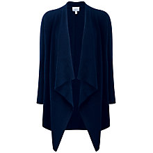 Buy Pure Collection Savanna Waterfall Cardigan, Navy Online at johnlewis.com