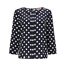Buy Phase Eight Marilyn Spot Blouse, Navy Online at johnlewis.com