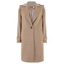Buy Mint Velvet Longline Coat, Camel Online at johnlewis.com