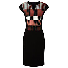 Buy Phase Eight Penny Ponte Dress, Black/Multi Online at johnlewis.com