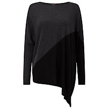 Buy Phase Eight Melinda Asymmetric Jumper, Black/Charcoal Online at johnlewis.com