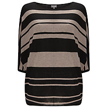 Buy Phase Eight Becca Batwing Jumper, Mushroom/Black Online at johnlewis.com