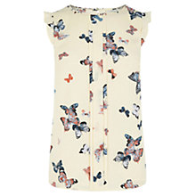 Buy Oasis Butterfly Frill Shell Top, Multi/Neutral Online at johnlewis.com