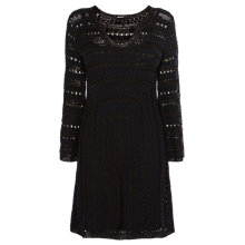 Buy Karen Millen Graphic Crochet Dress, Black Online at johnlewis.com