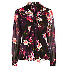 Buy Karen Millen Tie Neckline Top, Multi Online at johnlewis.com