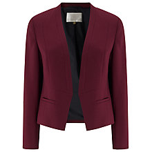 Buy Jacques Vert Angular Crepe Jacket, Dark Red Online at johnlewis.com