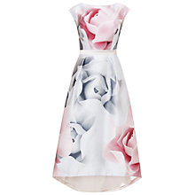 Buy Ted Baker Hagria Porcelain Rose Full Dress, Ecru Online at johnlewis.com