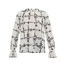 Buy Ted Baker Weerah Illustrated Elegance Top, Cream Online at johnlewis.com