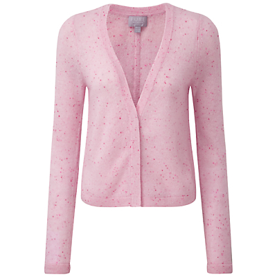 Pure Collection Aimee Gassato Cashmere Cardigan, Pink Fleck