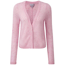 Buy Pure Collection Aimee Gassato Cashmere Cardigan, Pink Fleck Online at johnlewis.com