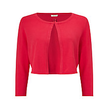 Buy Jacques Vert Petite Edge To Edge Cardigan, Bright Red Online at johnlewis.com