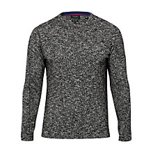 Buy Ted Baker T for Tall Alptt Twisted Stitch Crew Neck Jumper, Black/White Online at johnlewis.com