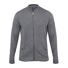 Buy Ted Baker T for Tall Brunott Quilted Bomber Jacket, Charcoal Online at johnlewis.com