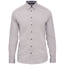Buy Ted Baker T for Tall Jamitt Wavy Lines Cotton Shirt, Red Online at johnlewis.com