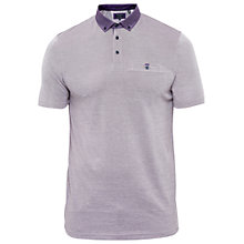 Buy Ted Baker T for Tall Zacctt Geo Print Collar Polo Shirt, Purple Online at johnlewis.com