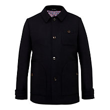 Buy Ted Baker T for Tall Osmontt Collared Overcoat, Navy Online at johnlewis.com