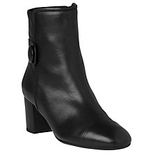 Buy L.K. Bennett Marianne Block Heeled Ankle Boots, Black Online at johnlewis.com