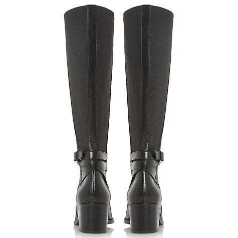 buy dune vivv stretch back knee high boots lewis