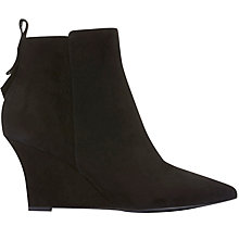 Buy Mint Velvet Amie Wedge Heeled Ankle Boots, Black Online at johnlewis.com