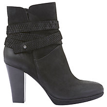 Buy Mint Velvet Tallula Block Heeled Ankle Boots, Black Online at johnlewis.com