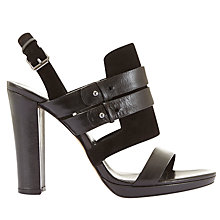 Buy Mint Velvet Olivia Block Heeled Sandals, Black Online at johnlewis.com