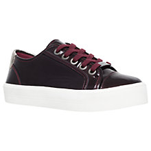Buy Carvela Lorna Lace Up Trainers, Wine Patent Online at johnlewis.com